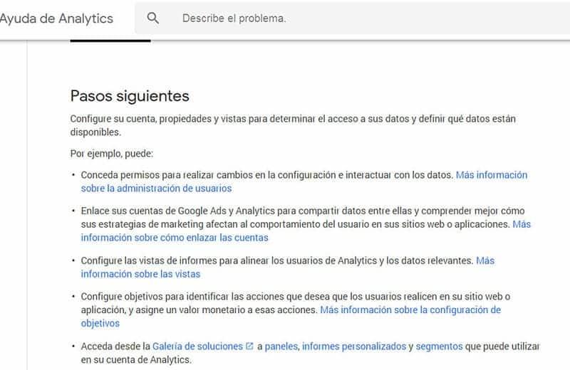 Curso de Google Analytics en español - Ayuda