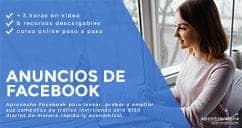 curso online de anuncios de Facebook - Oferta