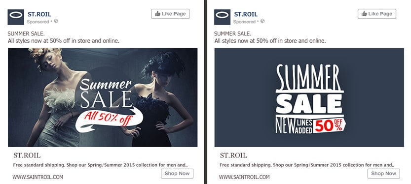 A/B testing anuncios de facebook pruebe imagen vs texto