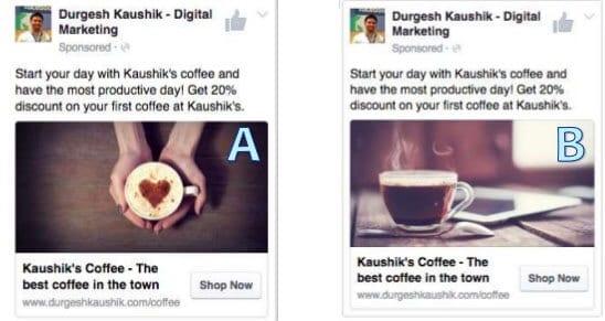 Probar distintas fotos para ver qué anuncio de Facebook funciona mejor