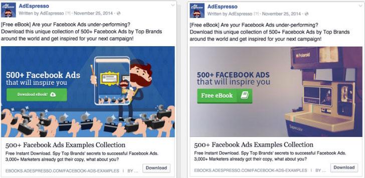 anuncios de Facebook, probar diferentes tipos de imagen