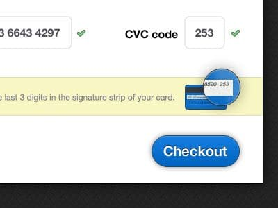 Optimización de formularios web - campo tarjeta de crédito